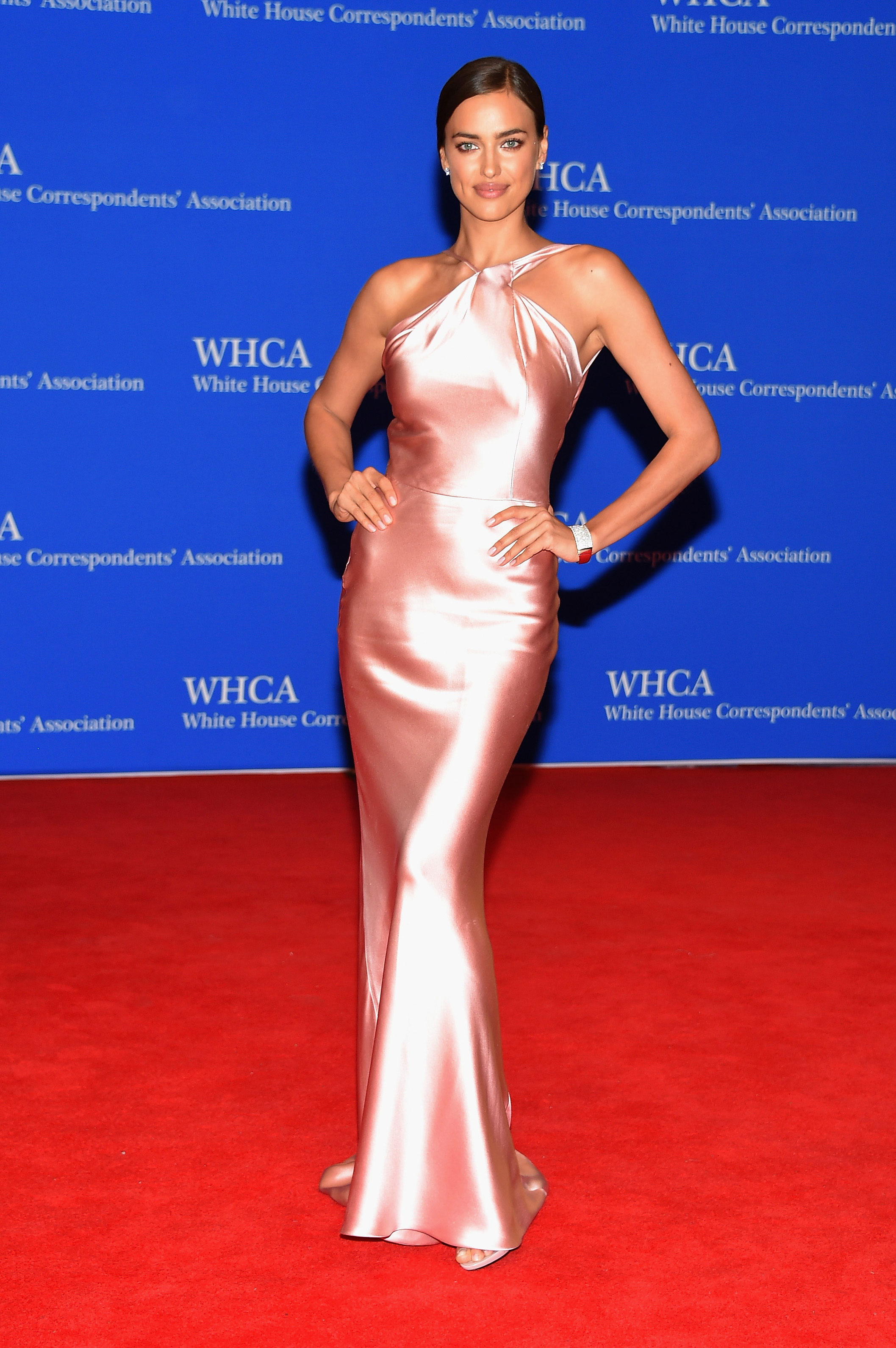 Irina Shayk attends the 101st Annual White House Correspondents' Association Dinner.
