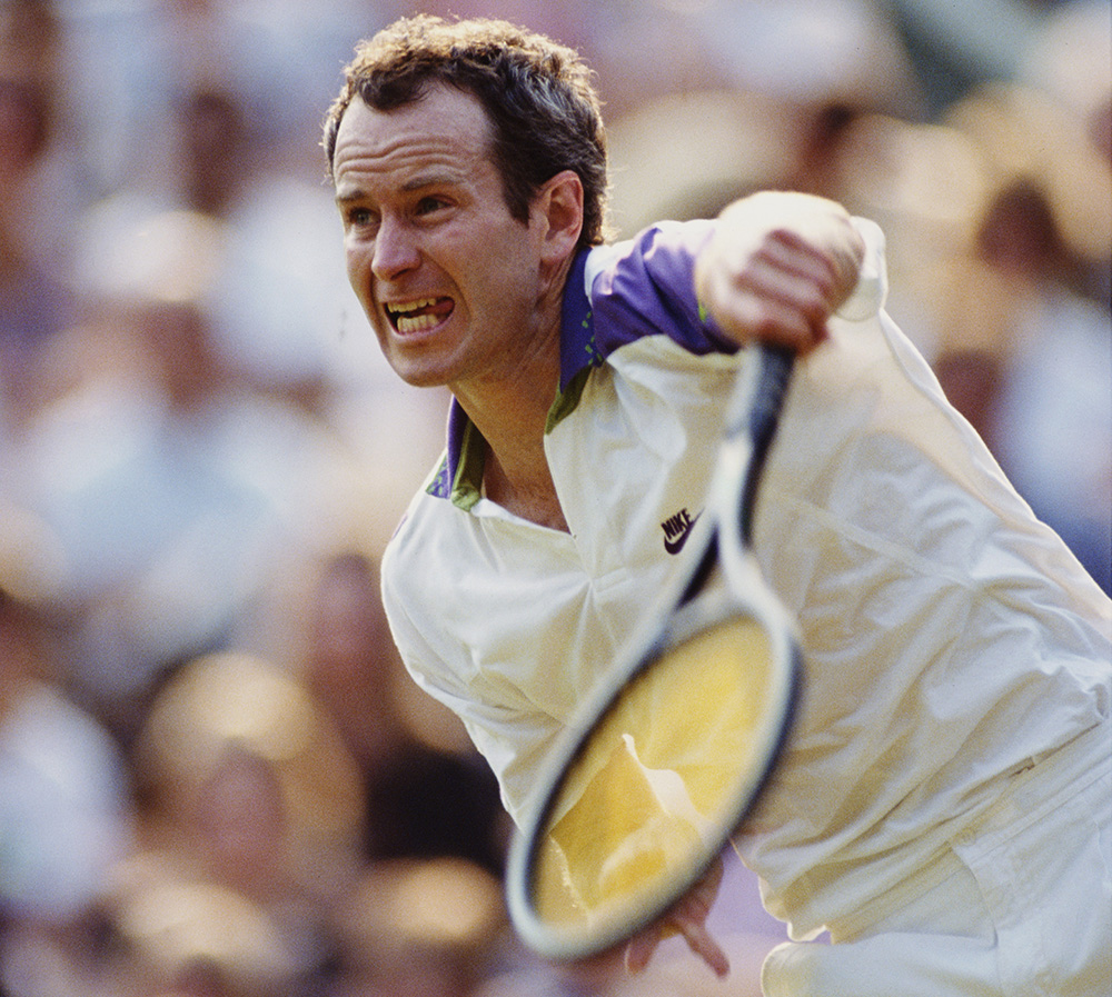 McEnroe is an American tennis great — and he played with a ton of intensity. He credited his temper to his Irish roots, which he gets from his dad.