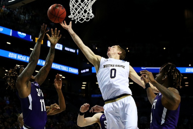 Freshman Rex Pflueger had averaged 2.3 points per game this season and played only 14 minutes in Notre Dame's Round of 32 win against No. 14 seed Stephen F. Austin. Yet he tipped in the game-winner to help the Fighting Irish hold off the underdog Lumberjacks. Until that moment, Pflueger hadn't scored a bucket since March 5. Coaches across the country will surely use Pflueger's play to illustrate the importance of crashing the boards.