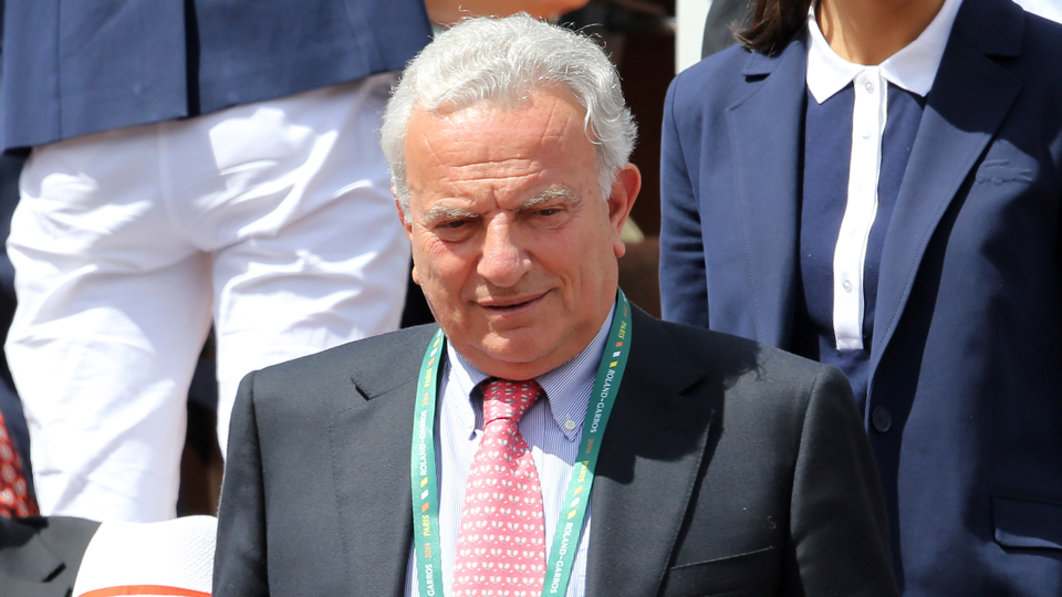 The president of the International Tennis Federation (ITF), Francesco Ricci Bitti, attends the French Open in June.
