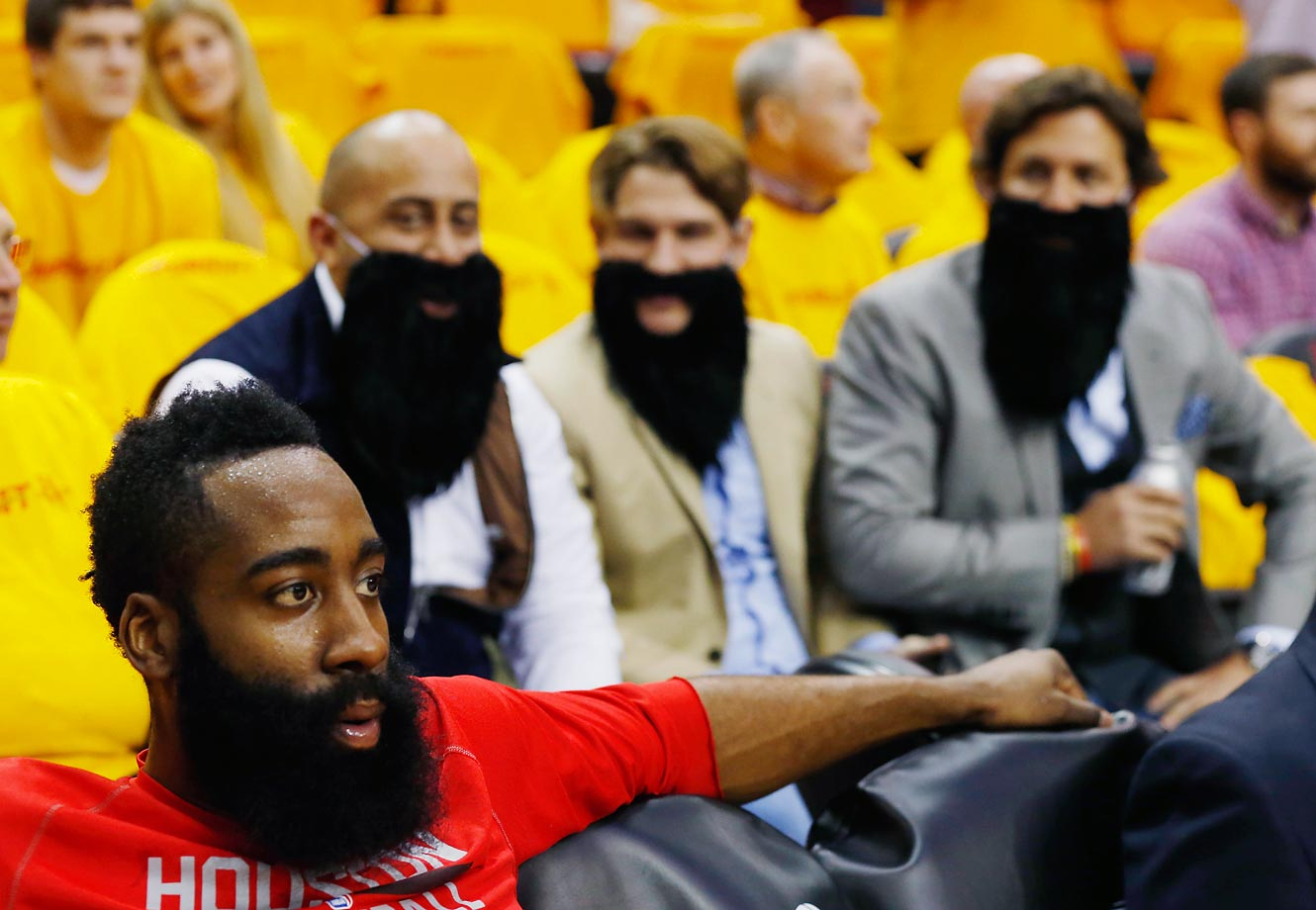 James Harden fans, with James Harden.