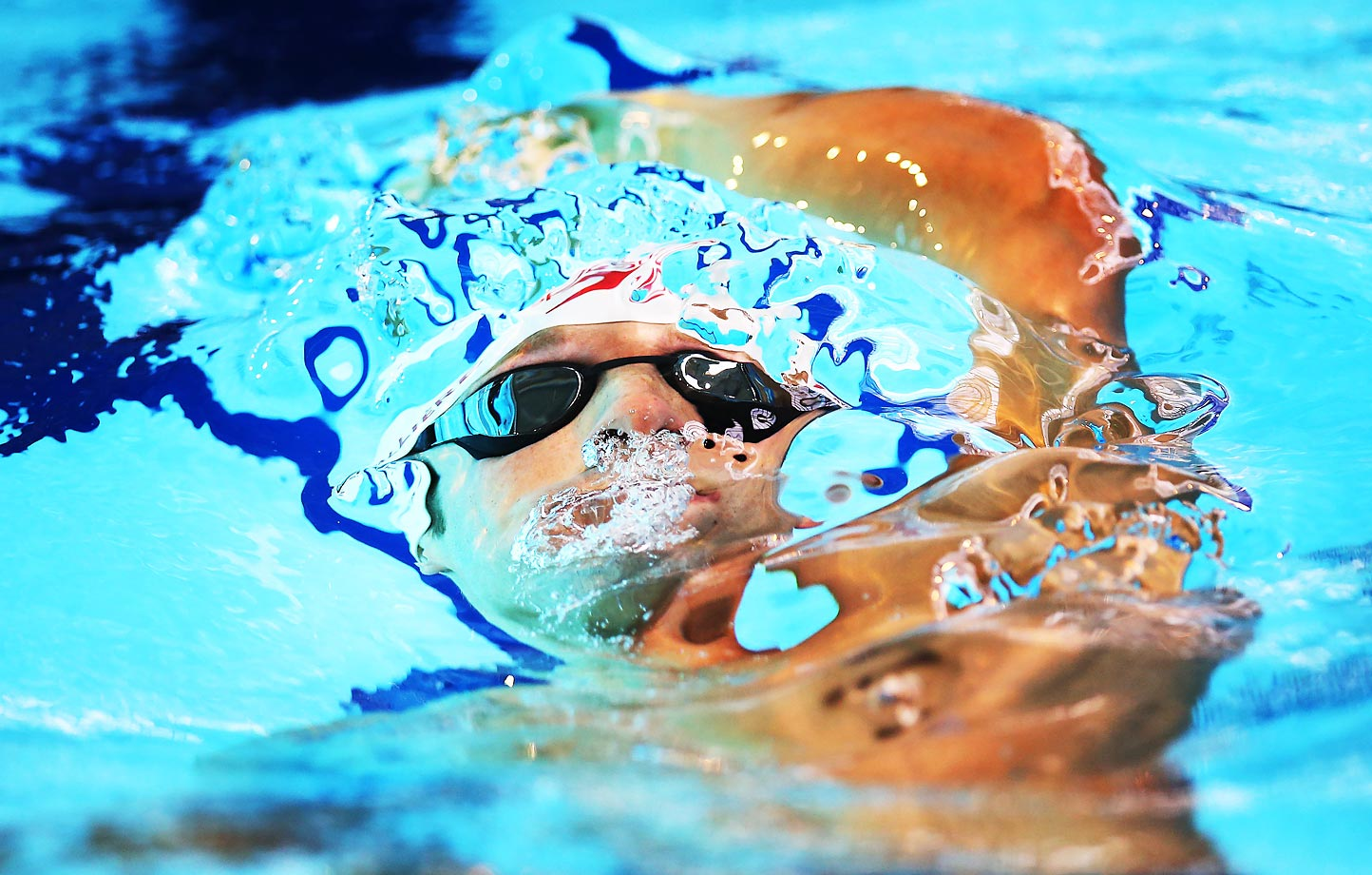 Jean-Michel Lavalliere during the IPC Swimming World Championships in Glasgow, Scotland.