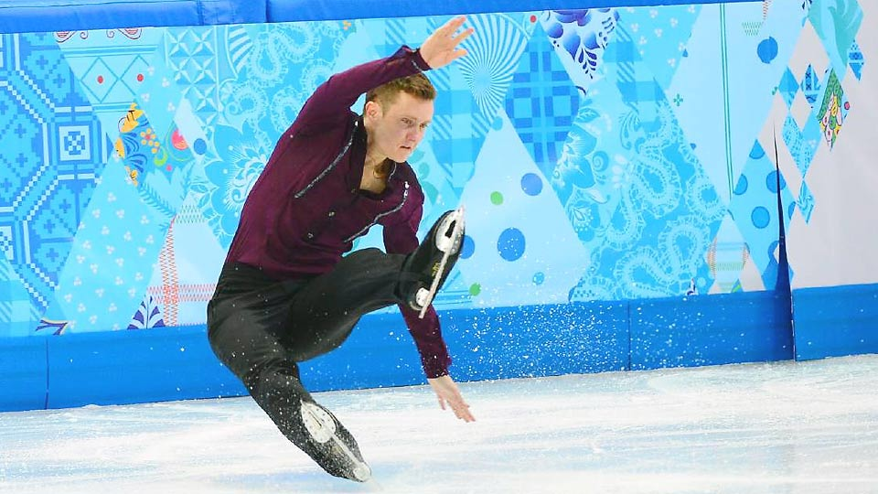 The hot and cold skating of Jeremy Abbott turned bitter, resulting in a fall and a seventh-place skate from the American.