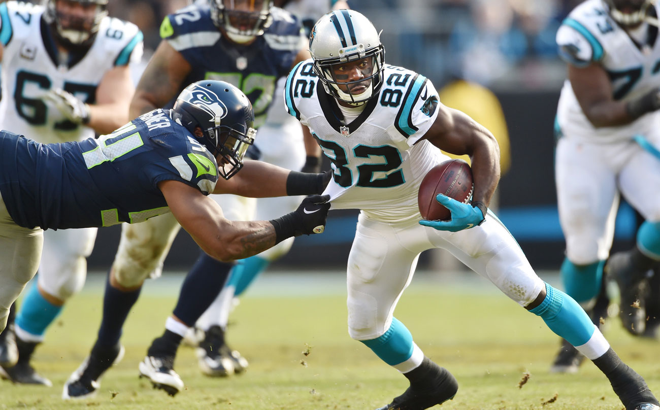 Jerricho Cotchery, in his 12th season and on his third team, has been integral to Carolina's potent passing attack.