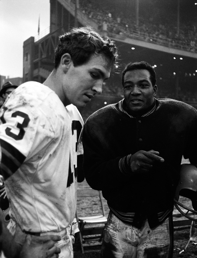 Brown and Ryan didn't always see eye-to-eye, but their partnership produced the last Browns NFL championship, in 1964. (Photo: Neil Leifer/Sports Illustrated)
