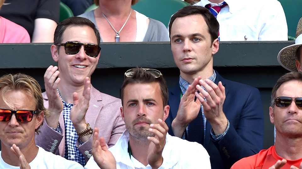 Jim Parsons has been following Eugenie Bouchard's historic progress at the All England Club