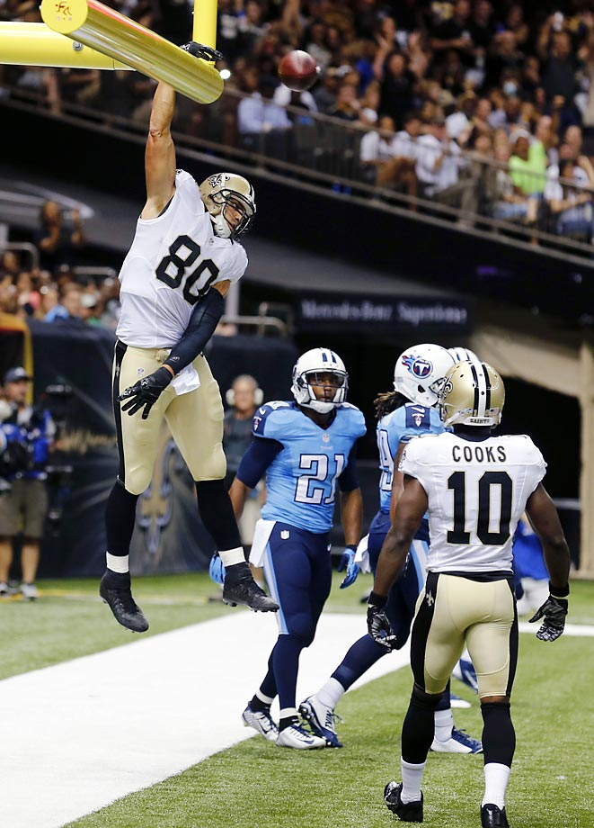 New Orleans Saints tight end Jimmy Graham had been celebrating touchdowns for years by showing off his jumping and dunking ability, but the NFL outlawed it heading into the 2014 season. Graham defied the NFL poobahs by dunking not once, but twice, during a preseason game shortly after the rule went into effect. He stopped soon thereafter, thanks to a $30,000 fine.