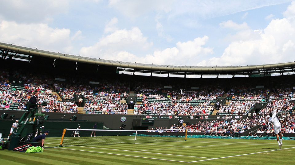 Jo-Wilfried Tsonga took the court against Jurgen Melzer after rain suspended their five-set match on Monday night.