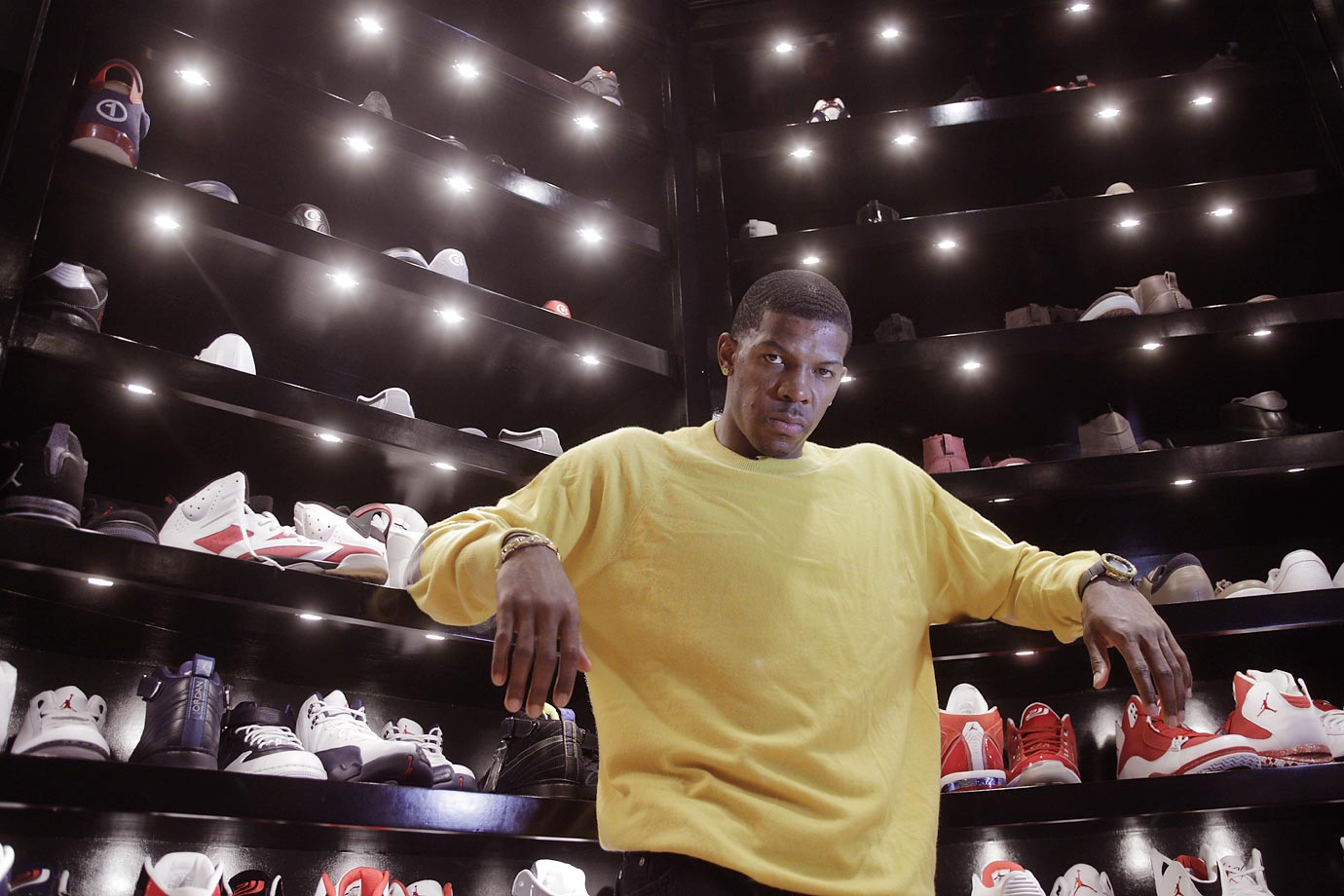 Back in 2012, SI photographed Joe Johnson's massive sneaker collection at his house. Check out some of the shoes from the Nets star's closet.