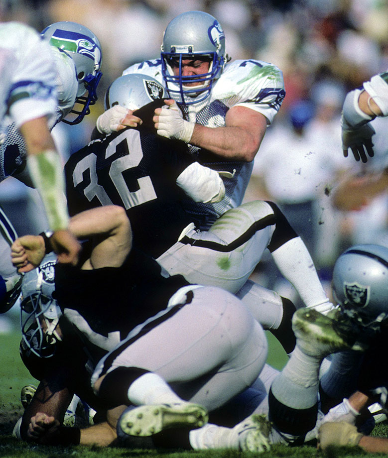 Nash lined up at nose tackle and defensive tackle for the Seahawks for the entirety of his 15 seasons in the NFL. He was named to one Pro Bowl and one first-team All-Pro team -- both in 1984 -- but his most impressive feat was perhaps his longevity. Nash played 218 games for the Seahawks, the most in franchise history.