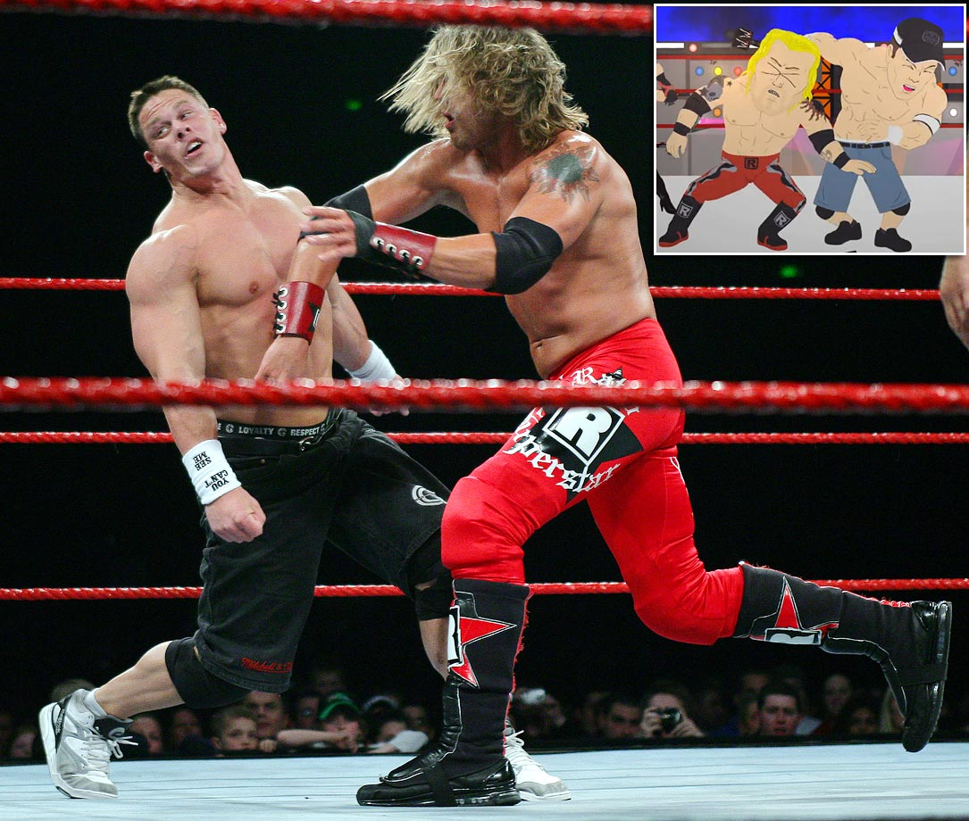 "Episode: ""W.T.F."" (Original Air Date: Oct. 21, 2009) — The boys attend a professional wrestling match between John Cena and Edge."