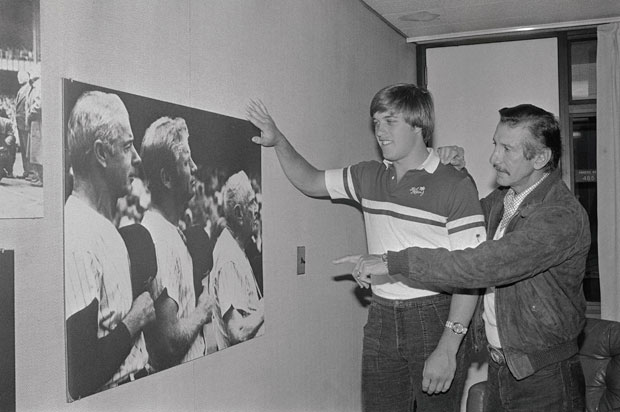 John Elway and Billy Martin :: Corbis