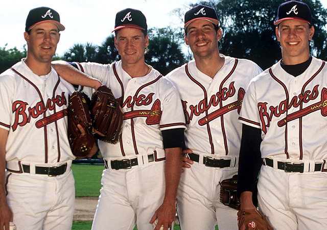 L to R: Greg Maddux, Tom Glavine, John Smoltz and Steve Avery.