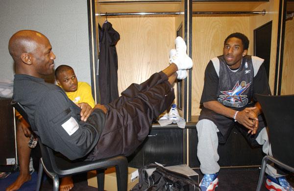 Michael Jordan and Kobe Bryant :: Getty Images