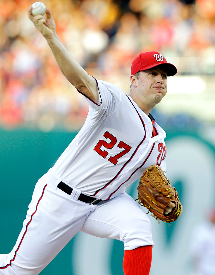 In August 2009 -- Jordan Zimmermann's rookie season -- the Nationals pitcher underwent Tommy John surgery, prematurely ending a successful freshman campaign and sparking concerns about the pitcher's future. But Zimmermann has improved each year since his surgery. In 2012, he finished the season with a winning record for the first time in his career at 12-8, helping the Nationals reach the postseason. The following year Zimmermann won 19 games, tied for the highest total in the majors, making his first All-Star team and emerging as one of the game's best starting pitchers. 2014 was another All-Star season for Zimmermann, who posted a career best in ERA (2.66) and strikeouts (182).
