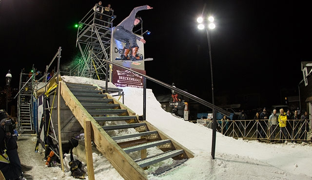 Kael Hill in the men's streetstyle competition.