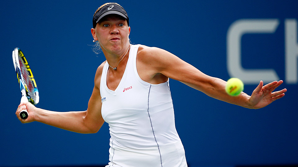 Kaia Kanepi lost to Serena Williams in the fourth round of the U.S. Open on Monday.