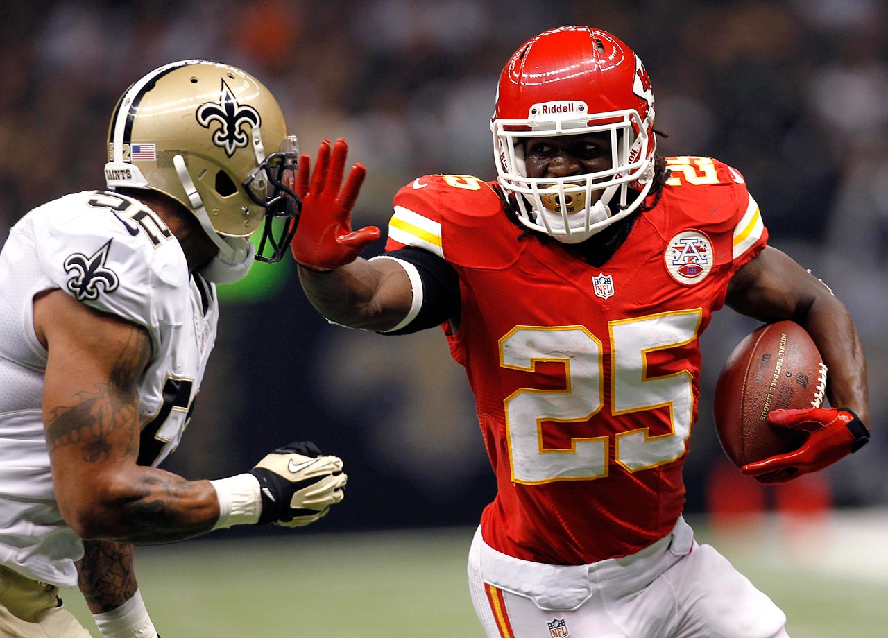The Chiefs overcame an 18-point deficit in the third quarter to beat the Saints 27-24 in overtime at the Superdome.  Jamaal Charles, who finished with 233 yards rushing and 55 yards receiving, scored the only touchdown the Chiefs needed as kicker Ryan Succop went a perfect 6 for 6 on kicks ranging from 25 to 45 yards.