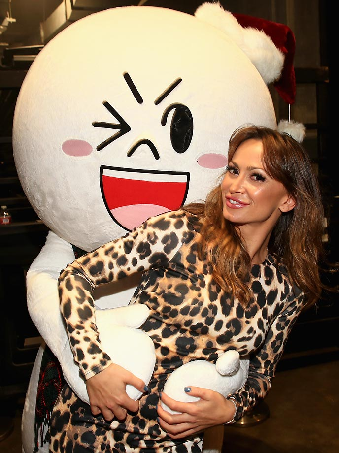 Dancer Karina Smirnoff attends the Jingle Ball at Staples Center.
