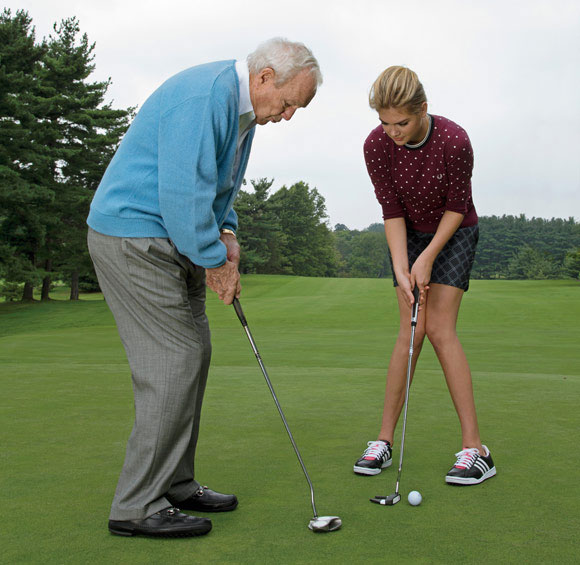 Kate Upton and Arnold Palmer for Golf Digest
