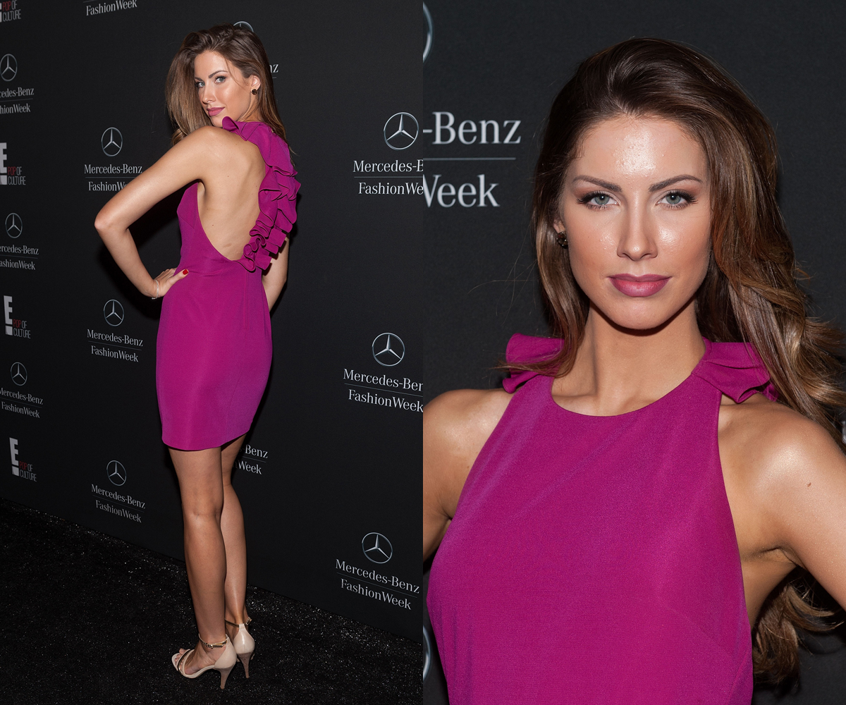Katherine Webb at Badgley Mischka