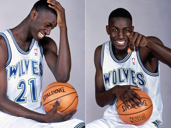 Kevin Garnett (1995) :: Getty Images