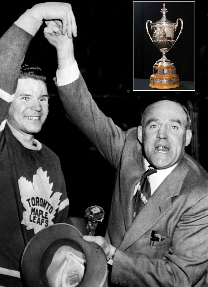 Clancy, a member of the Hockey Hall of Fame, played on the first Maple Leaf team to win the Stanley Cup. He also played for the Senators during his 16-year career. Today, the NHL awards the King Clancy trophy each year to the player who demonstrates leadership on and off the rink and makes a positive impact in his community.