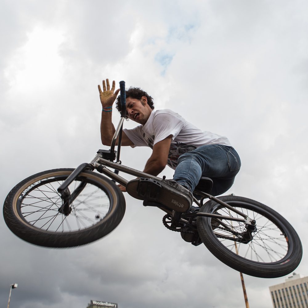 BMX freestyler Bassel Swayden during Urban Culture in Beirut, Lebanon on Saturday, June 7, 2014.