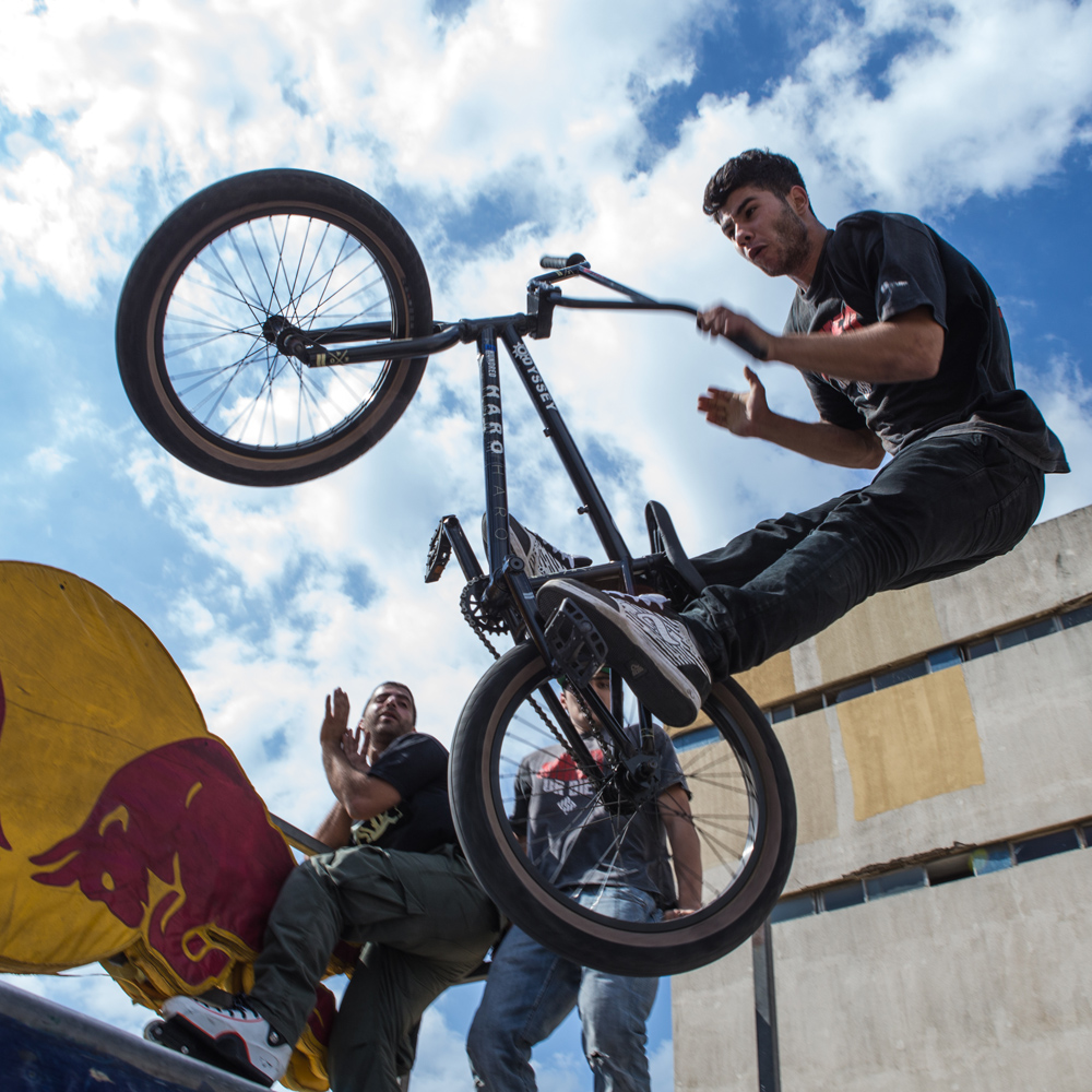 Walid Kassem, Lebanon's Top Street and Park BMXer, during Urban Culture in Beirut, Lebanon on Saturday, June 7, 2014.