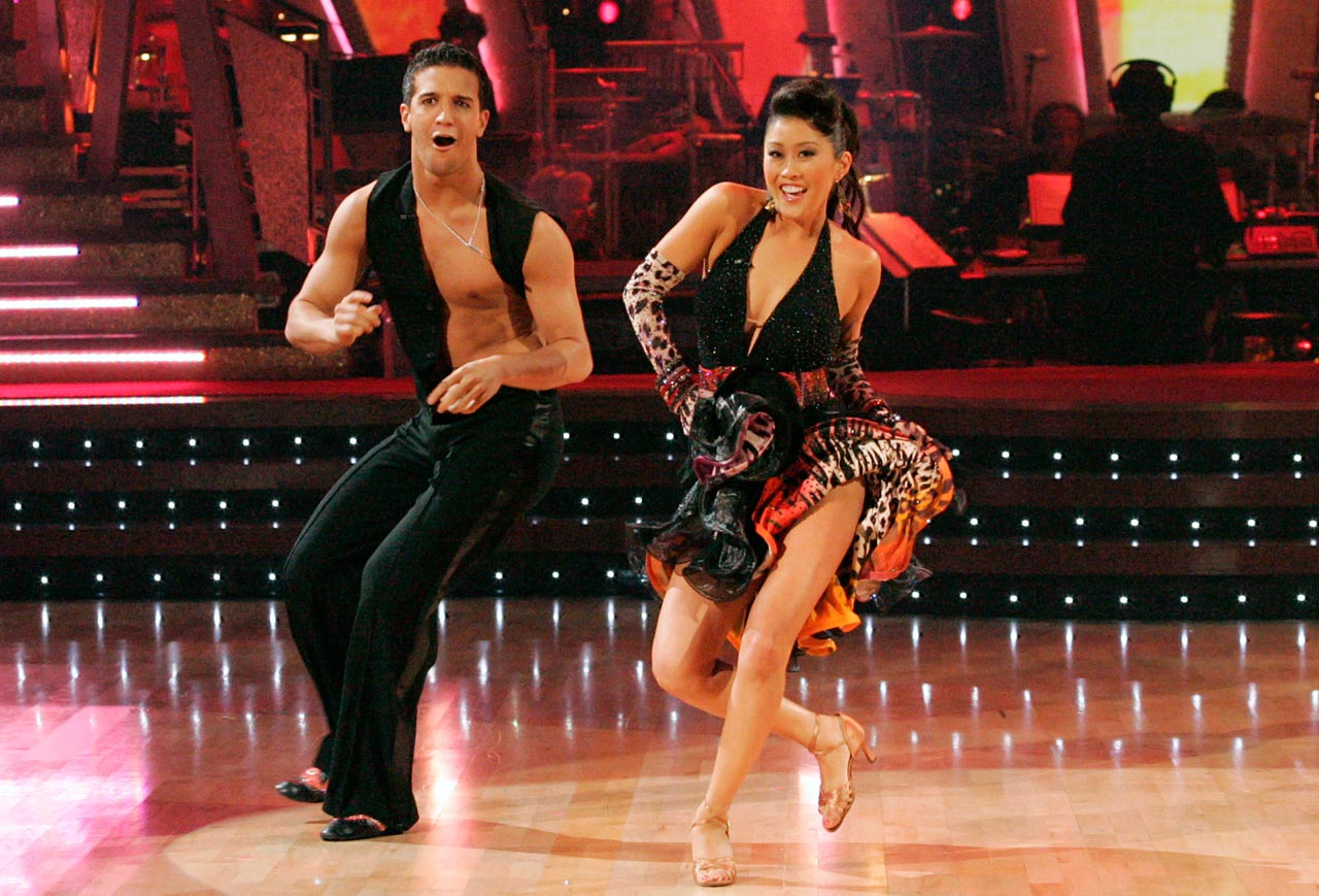 Olympic champion figure skater Kristi Yamaguchi won with dancing partner Mark Ballas in Season 6.
