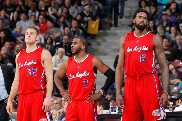 Blake Griffin, Chris Paul and DeAndre Jordan