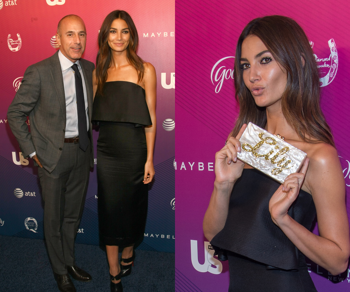 Lily Aldridge (with Matt Lauer) at US Weekly event