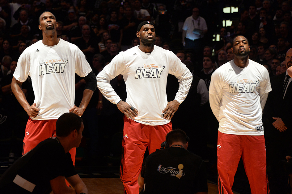 LeBron James, Dwyane Wade and Chris Bosh exercised early termination options on their contracts to become free agents.