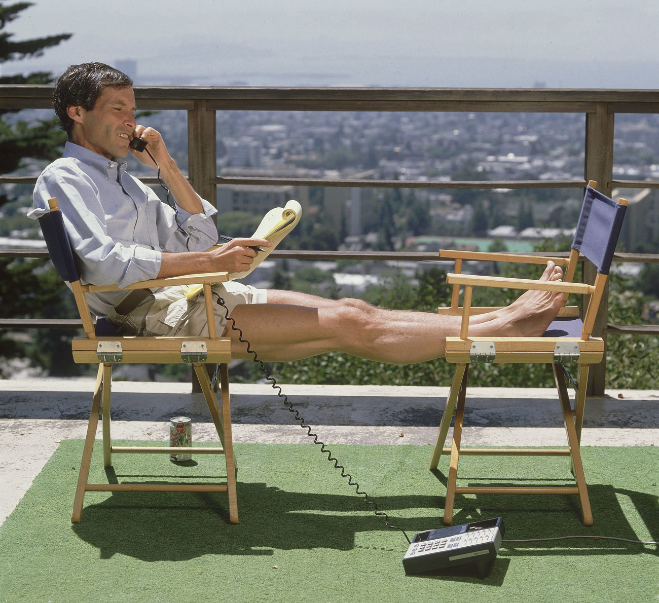 Steinberg on the rooftop deck of his office in Berkeley, Calif., 1989.