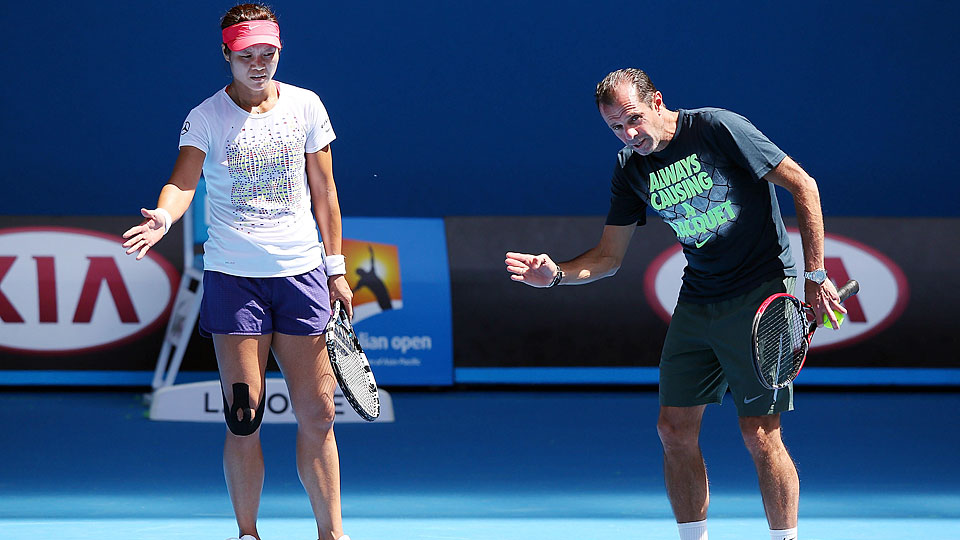 Li Na climbed to a career-high No. 2 and won the Australian Open under Carlos Rodriguez.