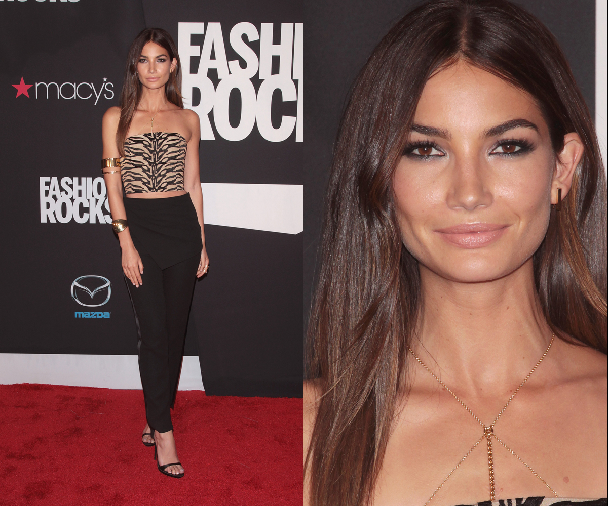 Lily Aldridge at Fashion Rocks