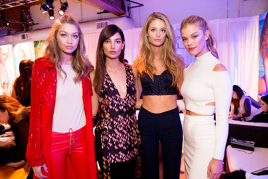 Gigi Hadid, Lily Aldrdige, Kate Bock and Nina Agdal :: Photo by Taylor Ballantyne