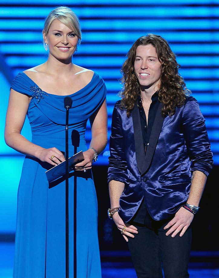 Vonn with Shaun White at the 2010 ESPY's.