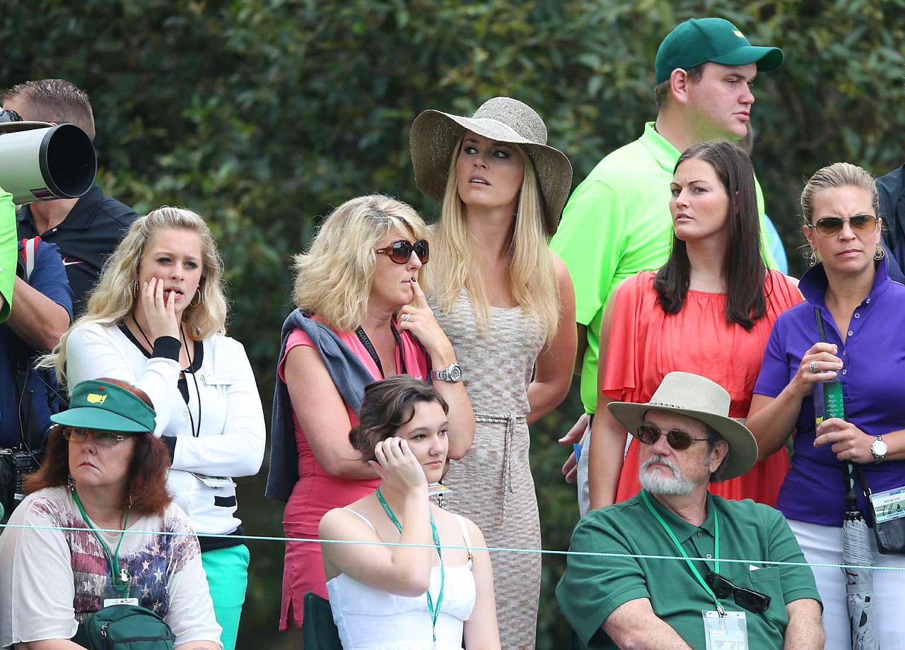 Watching The Masters in 2013, where her boyfriend Tiger Woods finished tied for fourth place.