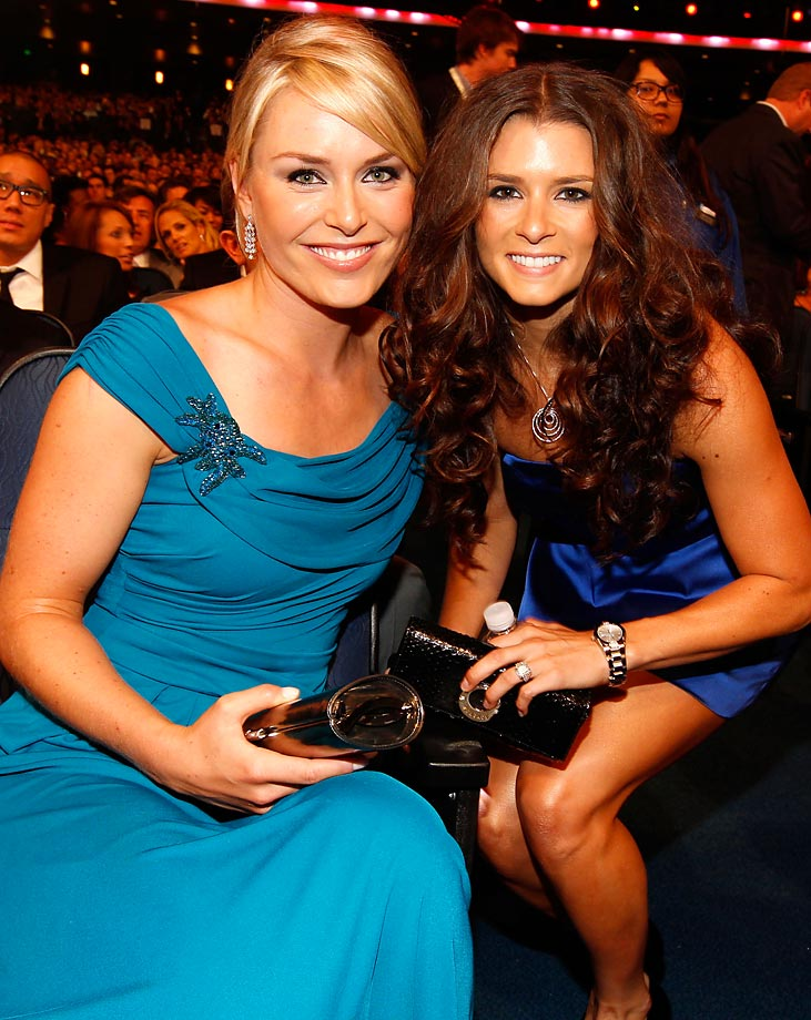 Danica Patrick and Vonn at the 2010 ESPY's.
