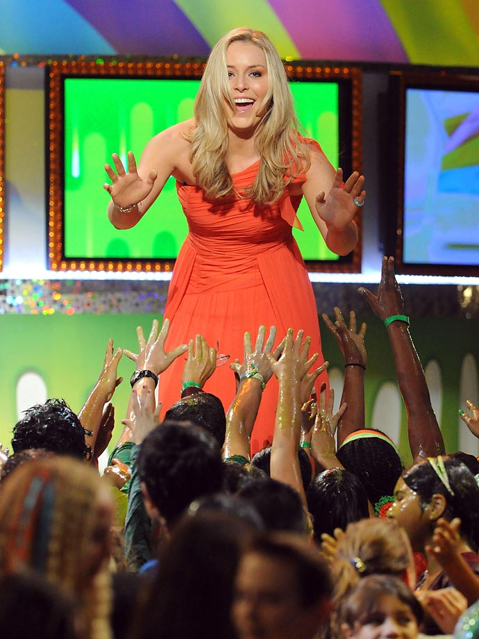 Vonn onstage during Nickelodeon's 2011 Kids' Choice Awards at Galen Center on April 2, 2011.
