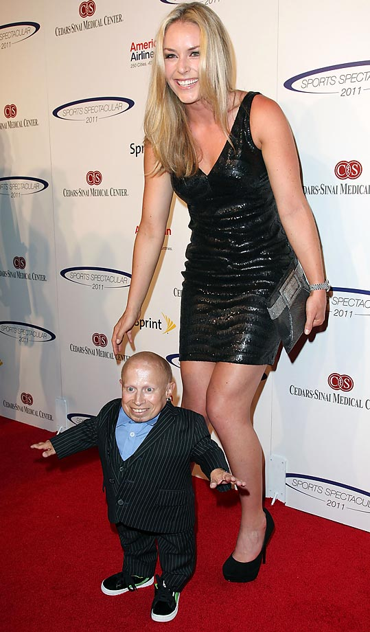Verne Troyer and Vonn attend the 26th Anniversary Sports Spectacular at the Hyatt Regency Century Plaza on May 22, 2011.