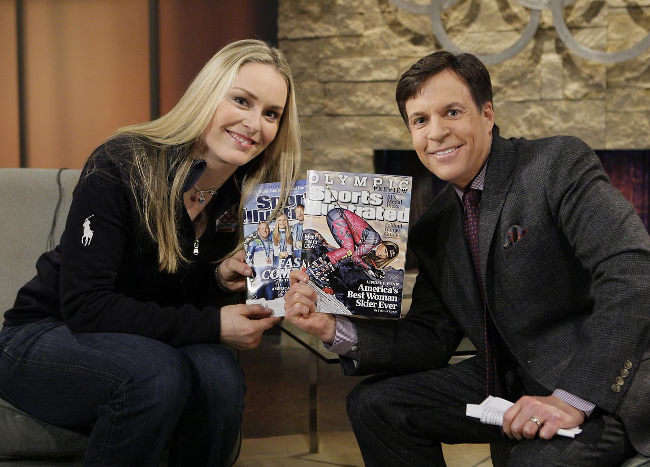 Vonn during an NBC Primetime interview with Bob Costas in 2010.