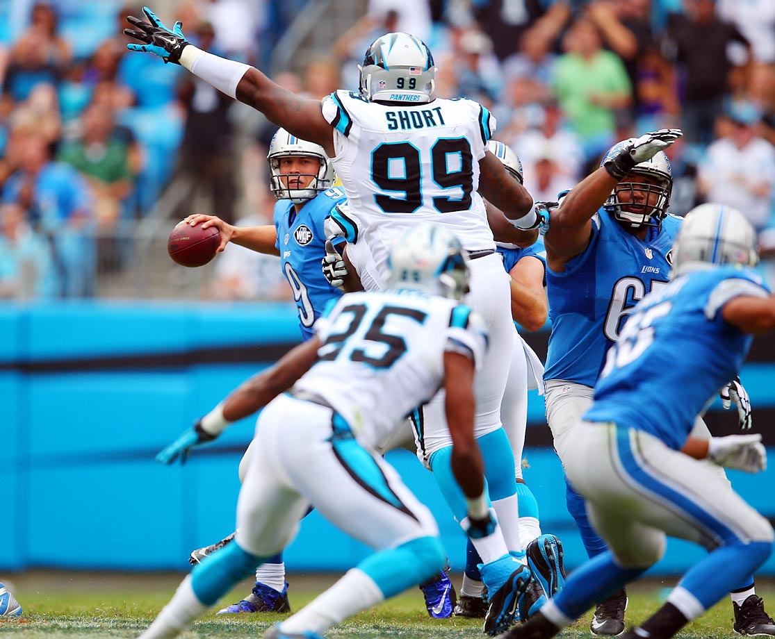 Detroit Lions quarterback Matthew Stafford threw for 291 yards against the Panthers, but lost the game 24-7.