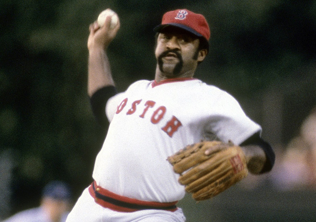 Luis Tiant spent eight seasons with the Red Sox, winning a pennant in 1976.