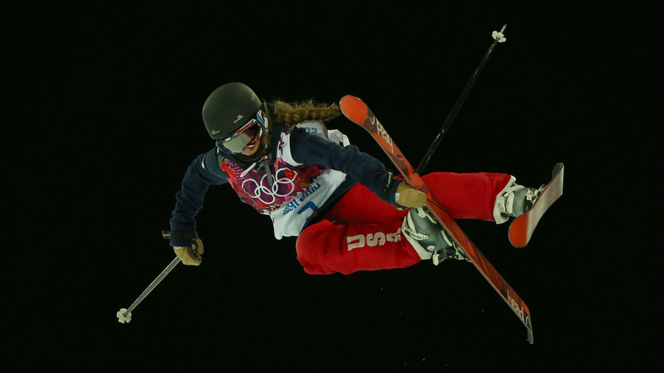 Maddie Bowman's first run was good enough for gold; her second was even better.