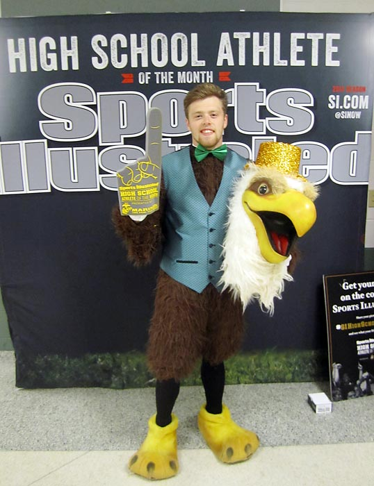 SI recognized Maddy at Seneca High's inaugural Goldie Awards, a year-end sports awards ceremony that included an appearance by school mascot, Goldie the Golden Eagle.