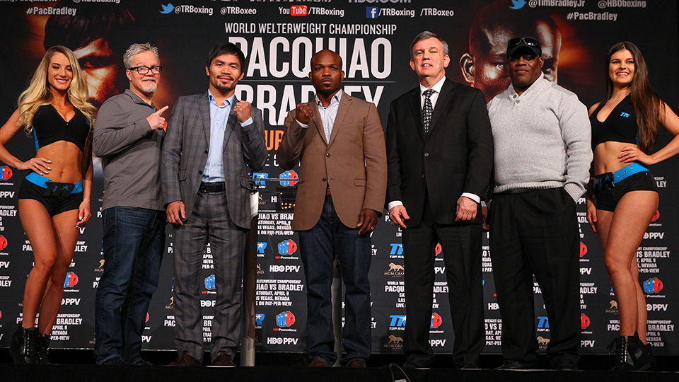 Manny Pacquiao and Timothy Bradley face off at MSG
