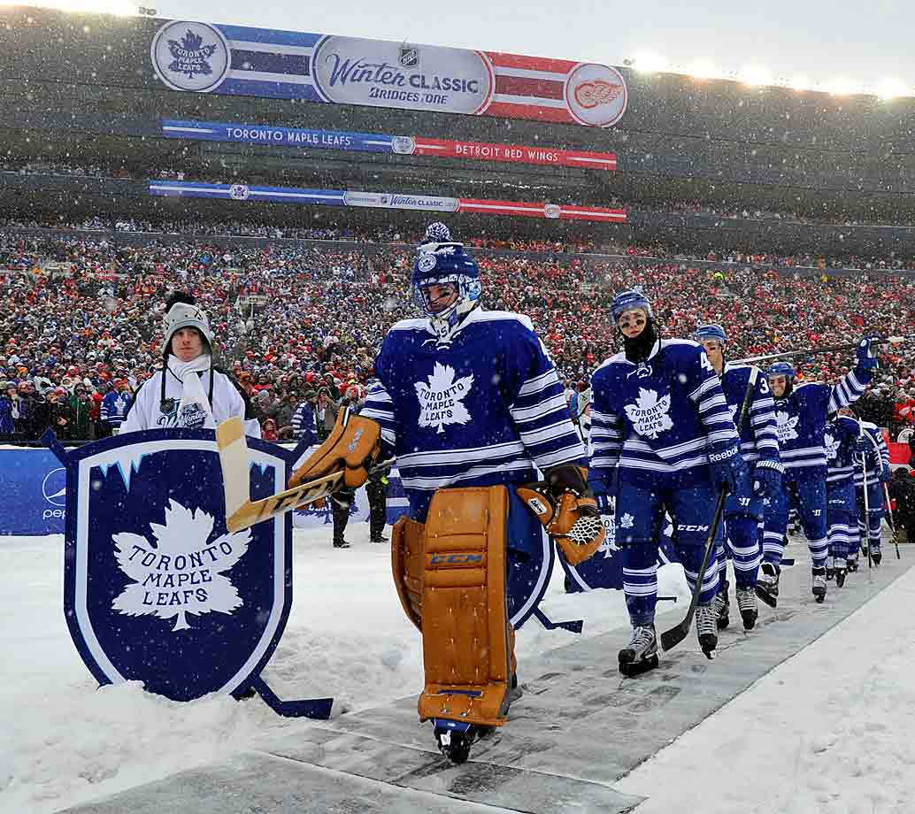 Some take issue with the piping overdose on the sleeves, but as a tribute to the team's 1927 sweater it's nearly flawless.