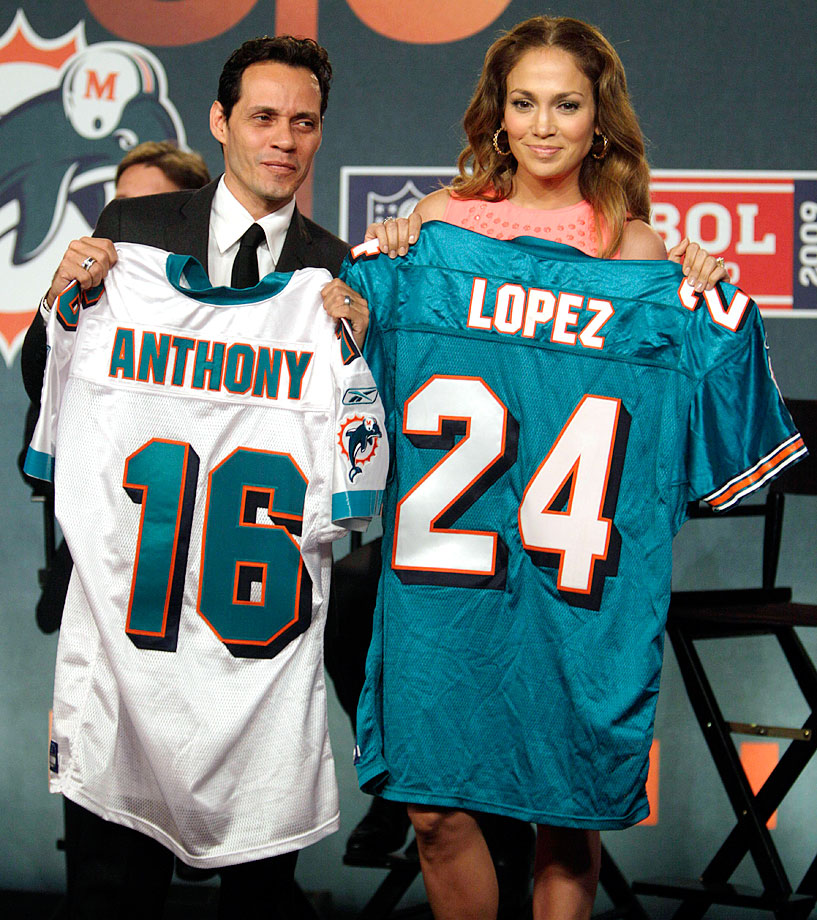 In July 2009, Marc Anthony and J-Lo also bought a small stake in the Miami Dolphins, while the two were still married.  Anthony still retains his ownership.